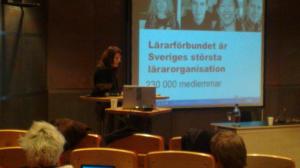 Sandra Wahlström från Lärarförbundet